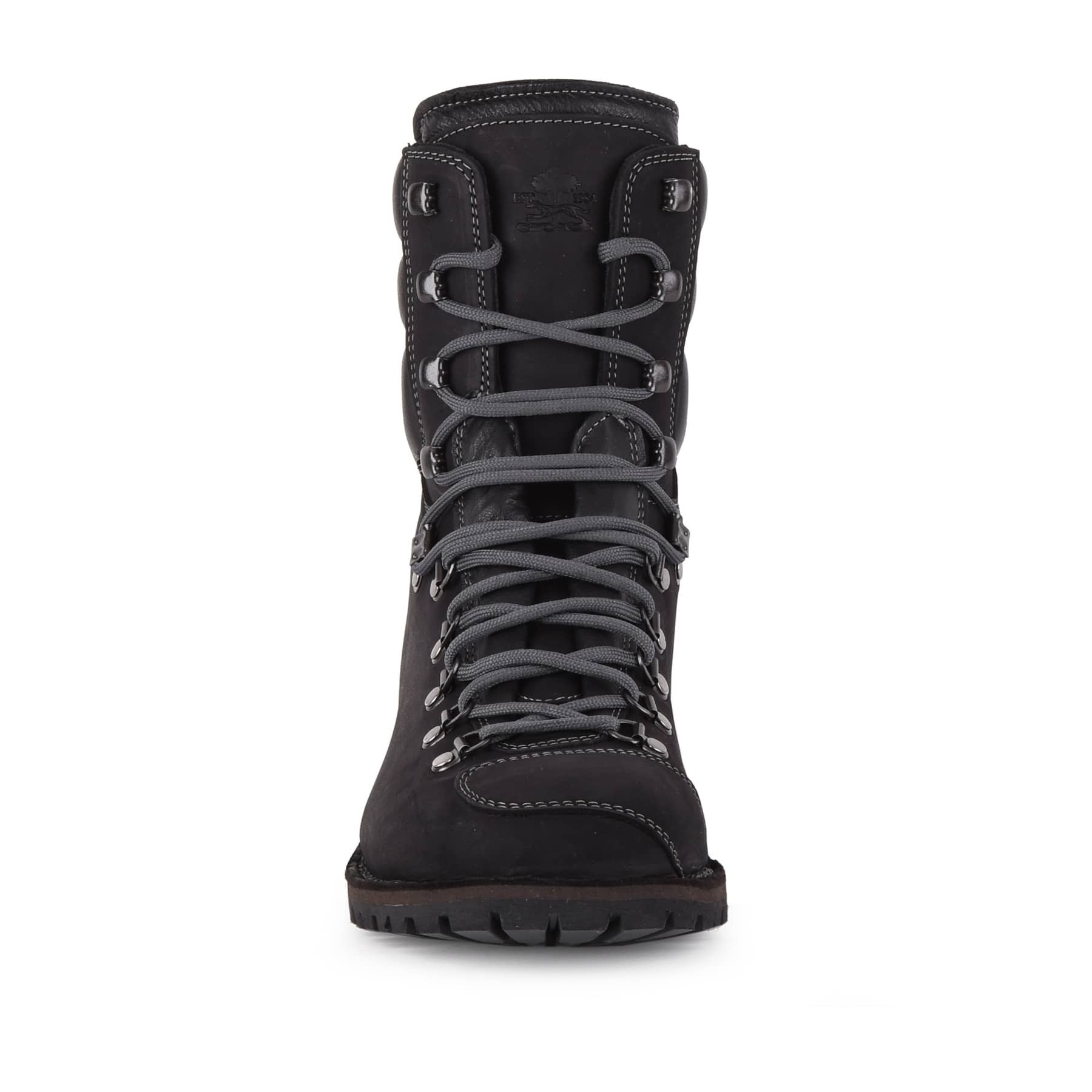 Biker Boot AdventureSE Denver Black, black gents boot, grey stitching