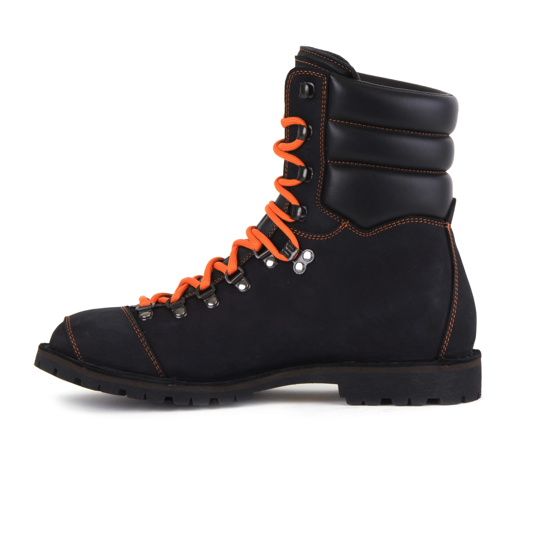Biker Boot AdventureSE Denver Black, black gents boot, orange stitching