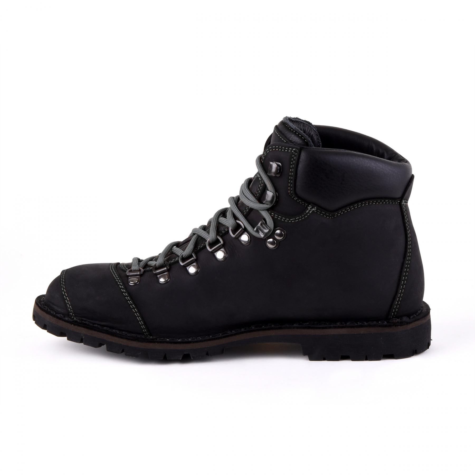 Biker Boot Adventure Denver Black, black gents boot, grey stitching
