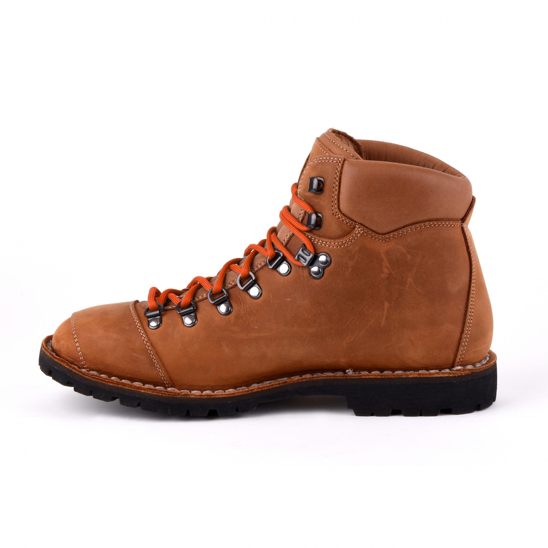 Biker Boot Adventure Denver Brandy, brandy ladies boot, cream stitching, size 36