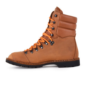 Biker Boot AdventureSE Denver Brandy, brandy gents boot, cream stitching