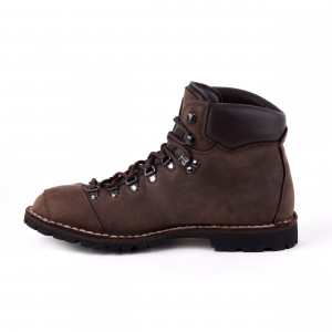 Biker Boot Adventure Denver Brown, dark brown ladies boot, dark brown stitching